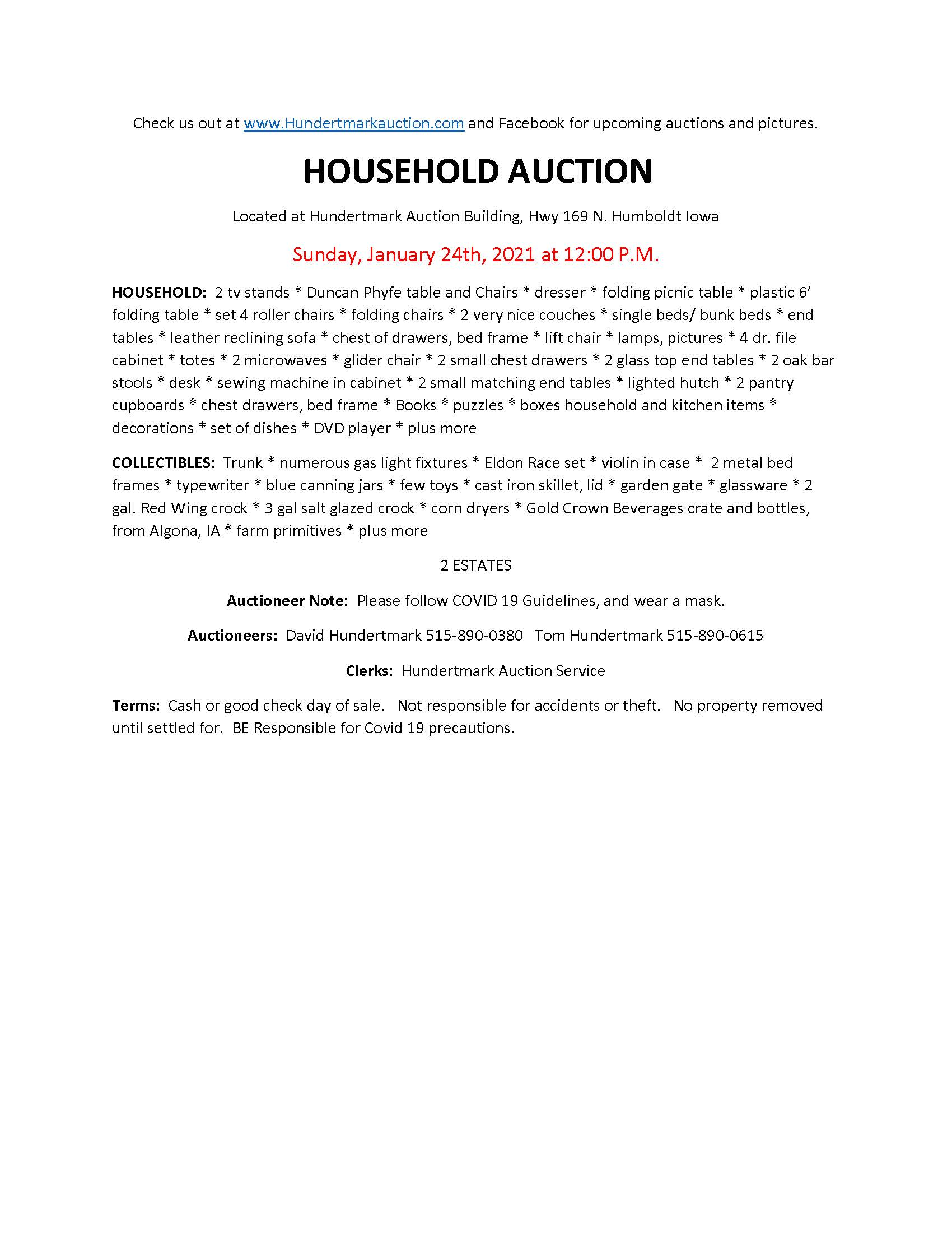 Household Auction
